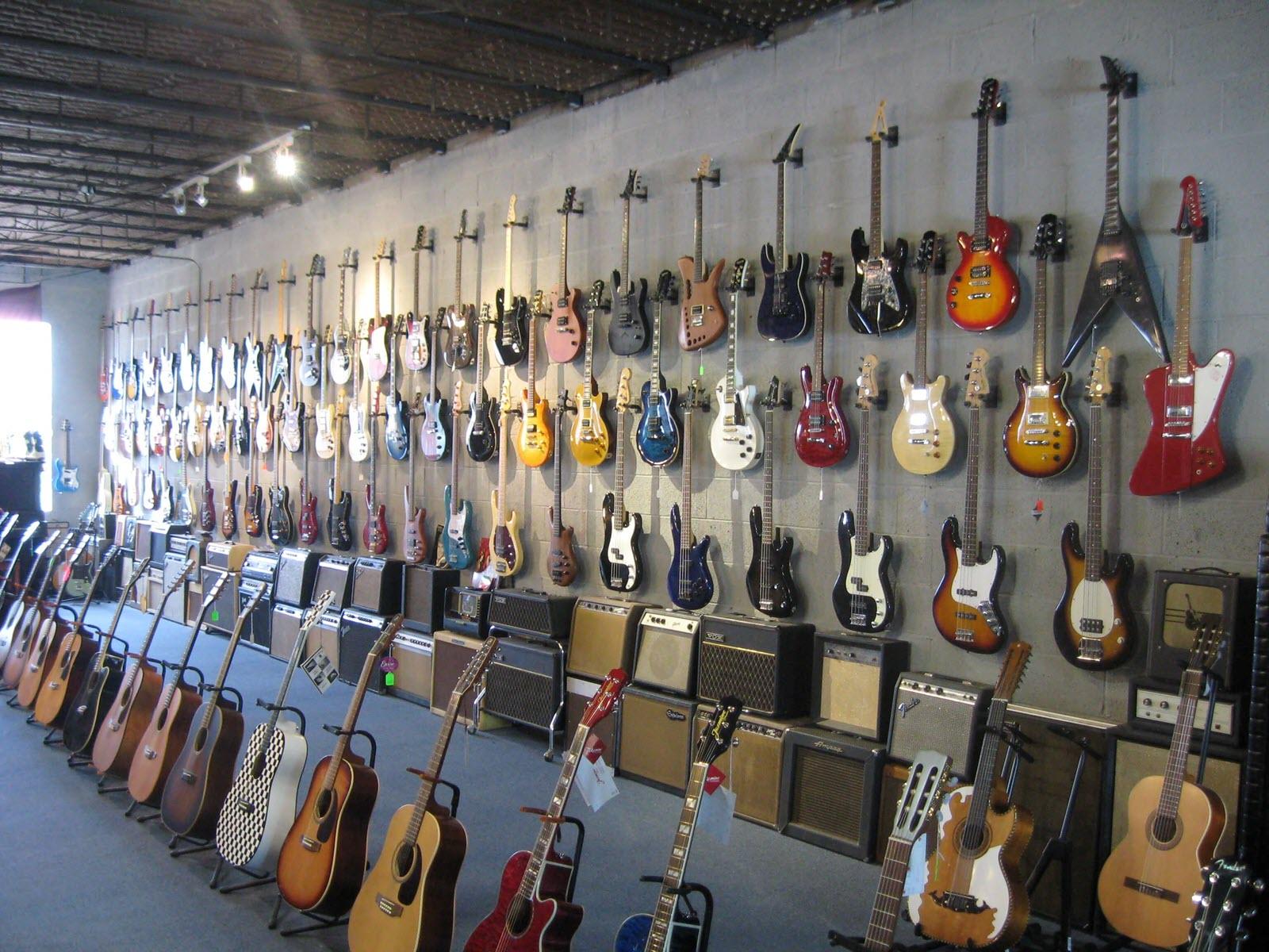 Acoustic Guitars, Electric Guitars, Bass Guitars